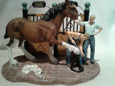 Anheuser Busch CLYD8 Clydesdale  Getting Shod Figurine