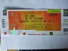 ticket foot usage LENS ASSE ST Etienne 3 oct 2020