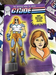 Official How To Draw G.I. Joe Comic Book #2 Blackthorne 1987 EX-NM Zartan OC