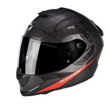 Casco Scorpion Exo-1400 Air Carbon Puro colore Carbonio/rosso Neon gr S (55)