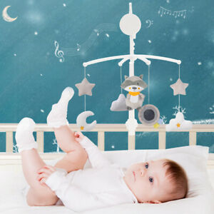 Baby Crib Holder Rattles Baby Toys Clockwork Music Box Bed Bell Mobile Toy Play