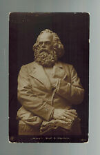 Mint RPPC real picture postcard Marble bust of Karl Marx Profesor G Eberlein dk