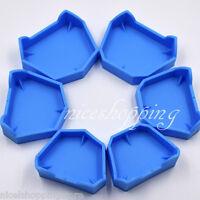 12Pcs Dental Lab Plaster Model Former Base Mold Mould Tray Blue Silicone Rubber