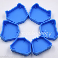 12Pcs Dental Lab Plaster Model Former Base Mold Mould Tray Blue Silicone Rubber