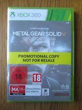 Metal Gear Solid V Ground Nullen Promo-Xbox 360 ~ NEU & VERSIEGELT (Full Game)