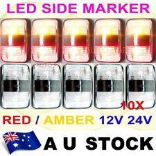 10X 12V 24V DC Red Amber Side LED Marker Light Lamp Clearance Trailer AU STOCK