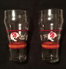 "TAMPA BAY BUCCANEERS NFL GLASSES Coca Cola Coke Football 6"" Tall"