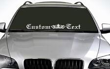 90 cm texto personalizado (02) cualquier color etiqueta engomada del parabrisas EUR Drift Car Etiqueta de vinilo