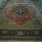 "Genuine W Asian antique Heriz carpet 12x15ft (11'11""x14'10)  c 1900 vegetable dy"
