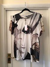New Carven Face Shoes Architecture Print Designer Cotton T-Shirt,Medium