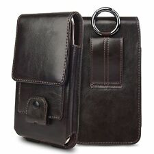 Leather Vertical Case Pouch Carring HolsterBelt Clip for Sony Xperia Cell Phones