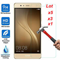 5Pcs 9H Premium Tempered Glass Cover Screen Protector Film For Huawei P8 P9 Lite