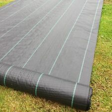 3 rolls of 2m x 25m 100g Weed Control Fabric Ground Cover Driveway Membrane