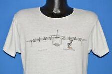 vintage 80s Spruce Goose Airplane Mascot White Cut Neck t-shirt Medium M