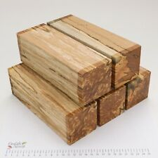 5 Punky Spalted Beech wood turning spindle blanks. 65 x 65 x 205mm. 5196A