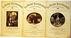 """3 Rares  Revues """" La petite illustration Cinématographique""""-n° 2,5 et 8- 1925/27"""