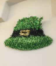 St. Patricks Day Wall/Door Hanging Large Tinsel Leprechaun Hat