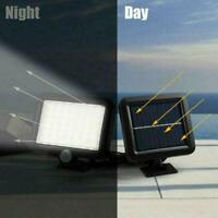 56LED Solar Flood Light PIR Motion Sensor Wall Light Lamp Garden Outdoor O6N3
