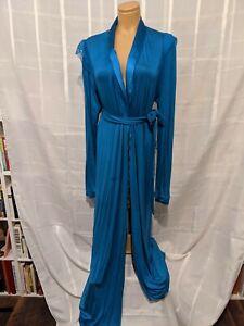 La Perla Robe Full Length French Blue Sz 4