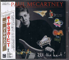 McCARTNEY, Paul All the Best le Japon Gold CD with OBI Presque comme neuf