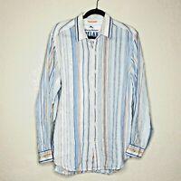 Tommy Bahama Relax Long Sleeve Linen Shirt Casual Men's Medium
