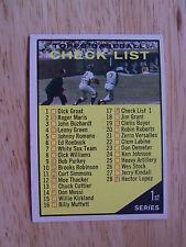 1961 Baseball Card Topps # 17 Check List 1st Series Near Mint Mint