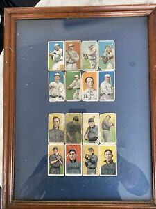 Antique Baseball Cards Framed