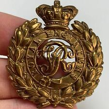 More details for victorian royal engineers corps cap badge queen victoria crown - mf91