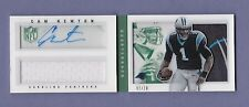 2013 panini CAM NEWTON auto LOGO PATCH #1/10 booklet PANTHERS #1/1 playbook