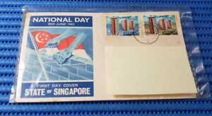 1963 State of Singapore First Day Cover National Day 3rd June 1963 Stamp Issue