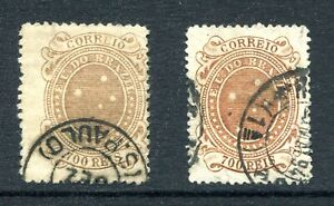 Brazil 1890 Used #107 and 107a