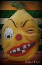 giant wink Jack o lantern  pumpkin man vintage party decor retro lantern pillow