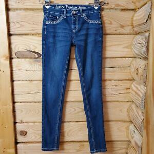 Justice Girl's Size 14 Regular Blue Medium Wash Simply Low Denim Jeggings Jean
