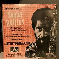 "SONNY ROLLINS - 9 Classic Jazz Originals (INSTRUCTIONAL)12"" Vinyl Record LP - EX"