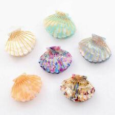 Women Girl Sea Shell Hair Clips Acetate Resin Floral Print Hair Claw Hairpins