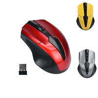 Wireless 2.4GHz Mice Optical Mouse Cordless USB Receiver PC Computer  Win Mac