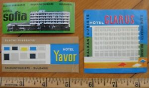 Zlatni Piassatzi - Bulgaria THREE Hotel Luggage Labels - 2