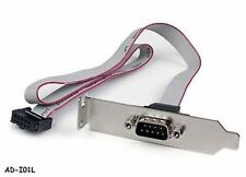 """1-Port 16"""" DB9 Serial Low Profile Bracket to 10-Pin Motherboard Header Adapter"""