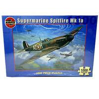 Vtg AIRFIX 1000 Piece Jigsaw Puzzle SUPERMARINE SPITFIRE Mk1a New SEALED