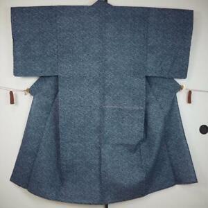 【YUKATA & OBI】JAPANESE KIMONO, Men's YUKATA with KAKU-OBI, BLUE(男浴001)