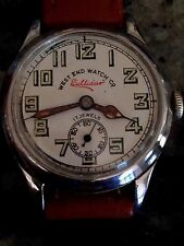 Vtg West End Watch Co Military Dial For Part  Or Repair