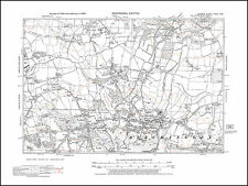 Bletchingley, Nutfield in 1938 - old map Surrey 27-SW