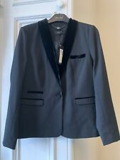 BNWT M&S AUTOGRAPH Women's Tailored Black Wool Blazer Jacket UK 14 RRP£79