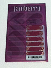 Jamberry 1K87 Swept Away Full Sealed Sheet of Retired Nail Wraps Red + Gold Tips
