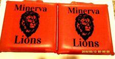 """New, 2-Minerva Lions Stadium Cushions Approx. 12"""" X 12"""""""