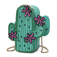 Womens Shoulder Bag Casual Handbag Cactus Shape Novelty Messenger Phone Bag New