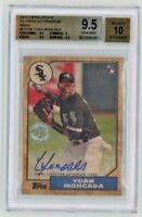 2017 Topps Update Yoan Moncada 87' Topps Autograph Wood Rookie Auto Rc BGS 9.5