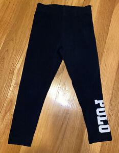 Toddler Girl Polo Ralph Lauren Black Pants Leggings 3T