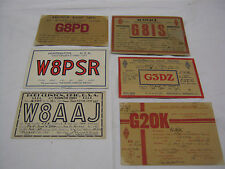 More details for 6 vintage  amateur  radio card calling postcard