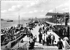 AK, Hamburg, Hafen und Landungsbrücke, belebt, um 1960